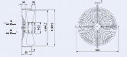 Вентузел YWF4E-300-S-92/35-G-AB