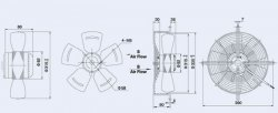 Вентузел YWF4E-315-S-92/35-G-AB