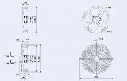 Вентузел YWF4E-500-S-102/35-G-AB