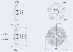 Вентузел YWF4D-550-S-137/35-G-AB